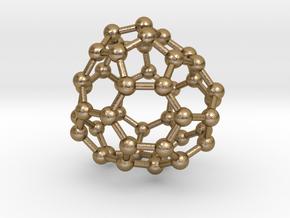 0708 Fullerene c44-80 d3 in Polished Gold Steel