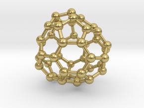 0708 Fullerene c44-80 d3 in Natural Brass