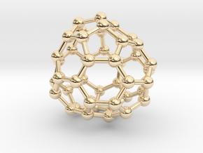 0708 Fullerene c44-80 d3 in 14k Gold Plated Brass