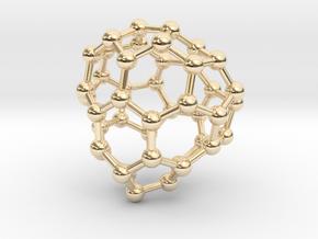 0712 Fullerene c44-84 cs in 14k Gold Plated Brass
