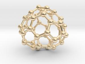 0715 Fullerene c44-87 c1 in 14k Gold Plated Brass