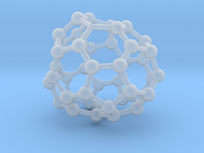 0716 Fullerene c44-88 c1 in Smooth Fine Detail Plastic