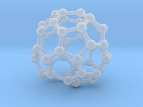 0717 Fullerene c44-89 d2 in Smooth Fine Detail Plastic