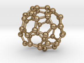 0717 Fullerene c44-89 d2 in Polished Gold Steel