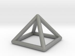 0719 J01 Square Pyramid  E (a=1cm) #1 in Gray PA12