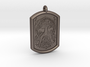 Thor  Knotwork Norse Pendant in Polished Bronzed-Silver Steel