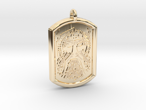 Thor  Knotwork Norse Pendant in 14K Yellow Gold