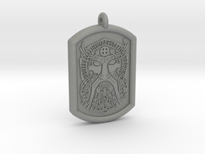 Thor  Knotwork Norse Pendant  in Gray Professional Plastic