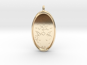 Celtic Stag deer Pendant in 14k Gold Plated Brass