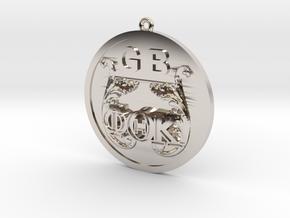 PhiThetaKappa Ornament in Rhodium Plated Brass