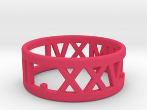 Maressa's 7-25-2016 Ring - Size 11 in Pink Processed Versatile Plastic