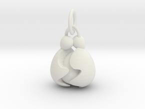 Egg Hug Family Pendant in White Premium Versatile Plastic