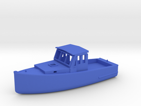 HO Scale Fishing Boat in Blue Processed Versatile Plastic
