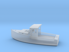 O Scale Fishing Boat in Smooth Fine Detail Plastic