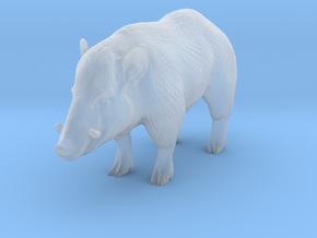 HO Scale Wild Boar in Smooth Fine Detail Plastic