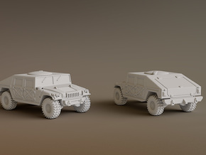 Humvee Scale: 1:200 in Smooth Fine Detail Plastic