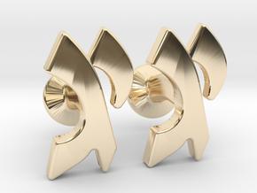 "Hebrew Monogram Cufflinks - ""Yud Gimmel"" in 14K Yellow Gold"