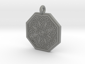 Celtic Spiritual Journey  Octagonal Pendant in Gray PA12