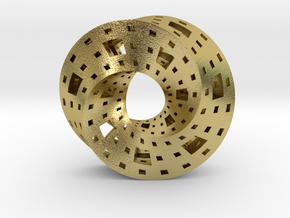 Menger Mobius  in Natural Brass