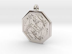 Hare Celtic  Octagon Pendant  in Platinum