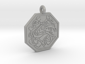 Cat Celtic Octogon Pendant in Aluminum