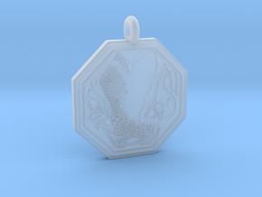 Birds Celtic Octogonal Pendant in Smooth Fine Detail Plastic