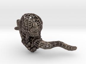 Dota2 Lifestealer Steel Skullring in Polished Bronzed-Silver Steel