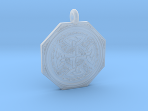 Celtic Cross Octogonal Pendant in Smooth Fine Detail Plastic