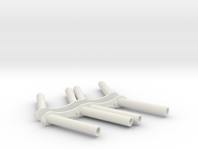 1:8 Straight pipe Small Block Chevy Custom Headers in White Natural Versatile Plastic