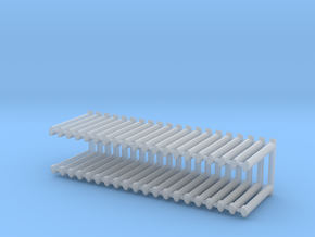 3D_UIC rubber gangways_10Pair in Smooth Fine Detail Plastic