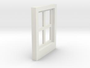 Cottage Windows - Gauge 1 / G-Scale in White Natural Versatile Plastic
