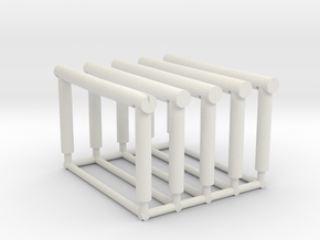 Hitching Rail 1/87th in White Natural Versatile Plastic