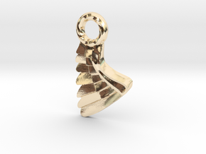 Wing Pendent and Charm 3D print model in 14K Yellow Gold