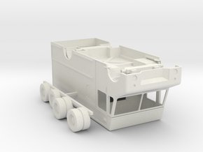O Scale UPS Truck in White Natural Versatile Plastic