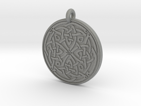 Celtic Spiritual Journey round Pendant in Gray PA12