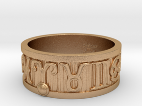 Zodiac Sign Ring Aries / 22mm in Natural Bronze