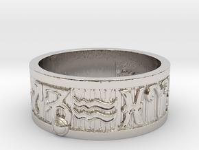 Zodiac Sign Ring Capricorn / 22.5mm in Rhodium Plated Brass