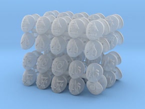 Commission 47 Shoulder pad icons in Smooth Fine Detail Plastic