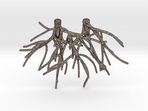 Fenyl02 Pendant Steel in Polished Bronzed-Silver Steel