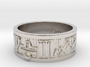 Zodiac Sign Ring Libra / 22mm in Rhodium Plated Brass