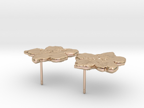 F6 pair small in 14k Rose Gold Plated Brass
