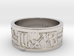 Zodiac Sign Ring Scorpio / 21.5mm in Rhodium Plated Brass