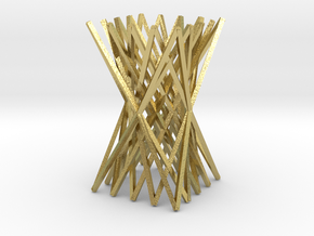 Chopstick Rest in Natural Brass