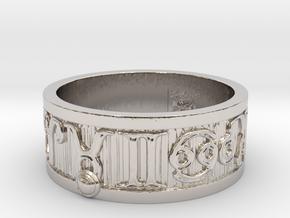 Zodiac Sign Ring Taurus / 22.5mm in Rhodium Plated Brass