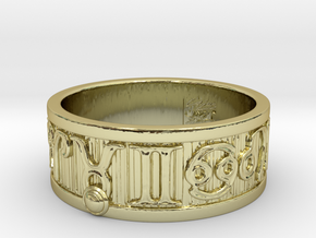 Zodiac Sign Ring Taurus / 23mm in 18k Gold Plated Brass