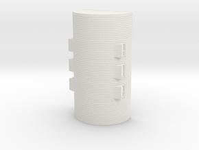 1/120th (TT) scale Nissen hut in White Natural Versatile Plastic