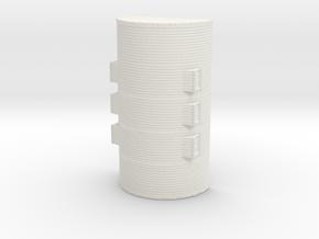 1/200th scale Nissen hut in White Natural Versatile Plastic