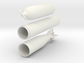1/16 DKM G7 torpedo (21 in) in White Natural Versatile Plastic