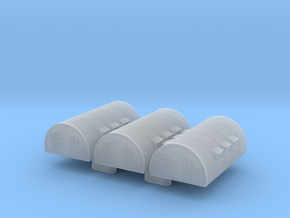 1/1200th-1/1250th scale Nissen hut (3 pieces) in Smooth Fine Detail Plastic