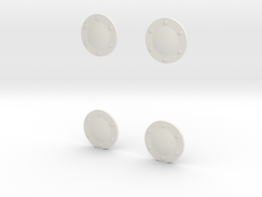 Pegaso-wheel-cap-4set in White Natural Versatile Plastic